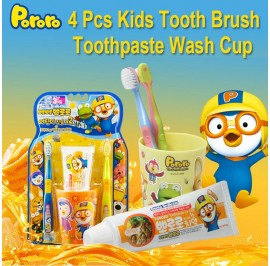 Pororo Tooth Brush Set For Kids (3 Year Over) With Tooth Paste And Cup (Pororo)